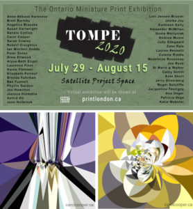 TOMPE 2020 The Ontario Miniature Print Exhibition